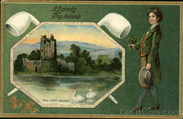 Ross Castle, Killarney. A Patrick's day souvenir. St. Patrick's Day
