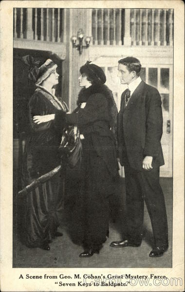A scene from Geo.M.Cohan;s Great Mystery Farce,Seven Keys to Baldpate