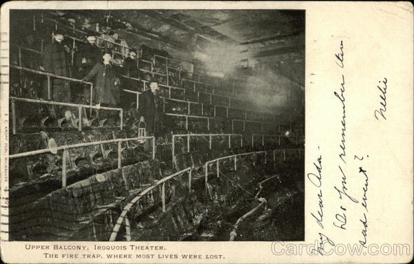 Upper Balcony Iroquois Theater The Fire Trap Where Most