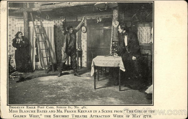 Blanche Bates and Frank Keenan in The Girl of the Golden West