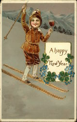 A Happy New Year - Making a Toast on the Ski Slopes