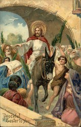 Peaceful Easter to You - Jesus of Nazareth riding Donkey
