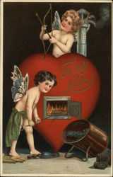 To My Love - Heart Furnace and Two Cupids