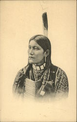 Portrait of a Native American man