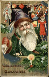 Christmas Greetings - Santa With Toys