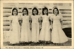 The Dionne quintuplets at Callander, Ontario, Canada