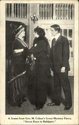 "A scene from Geo.M.Cohan;s Great Mystery Farce,""Seven Keys to Baldpate"""