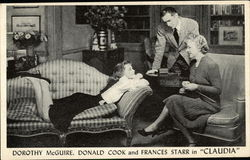 "Dorothy McGuire,Donald Cook and Frances Starr in ""CLAUDIA"""