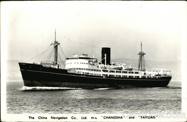 The China Navigation Co., Ltd. M.S. Changsha and Taiyuan