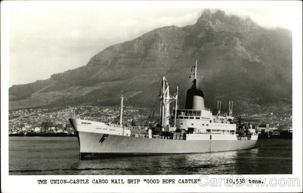 Union-Castle Cargo Mail Ship Good Hope Castle Boats, Ships