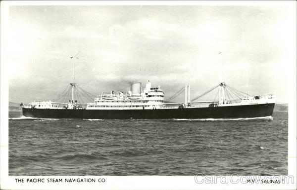 M.V. Salinas - The Pacific Steam Navigation Co. Boats, Ships