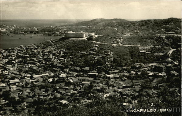 Aerial View of Town Acapulco Mexico