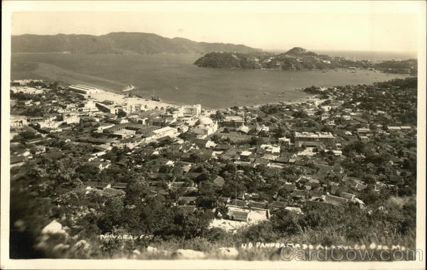 Panoramic View of Town Acapulco Mexico