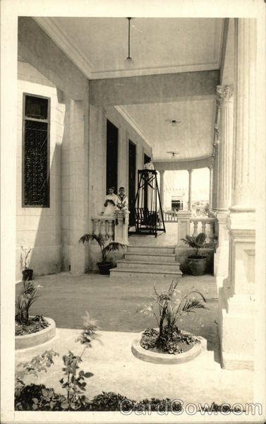 View of Portico of Home Cuba