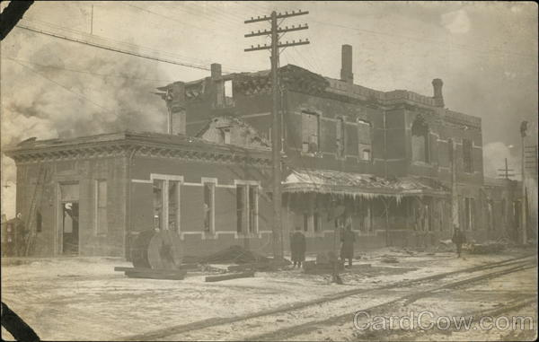Train Depot after Fire Michigan City Indiana Disasters