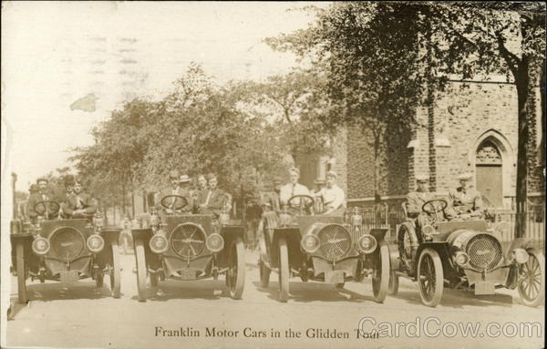 Franklin Motor Cars in the Glidden Tour Syracuse New York