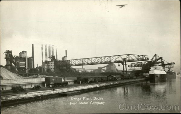 Rouge Plant Docks, Ford Motor Company Dearborn Michigan