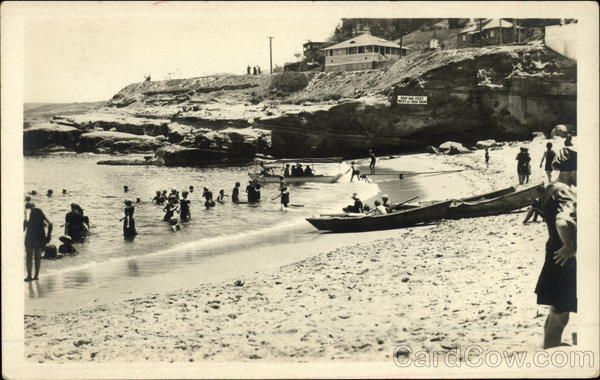 At the beach in the early 20th century Canoes & Rowboats