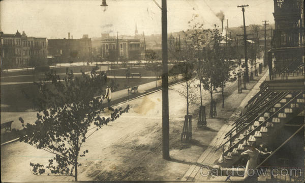 Photograph of an urban park in Montreal in the early 20th century Canada