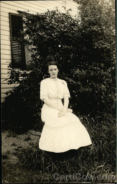 Portrait of Young Girl, Grace, Outside Home South Londonderry Vermont
