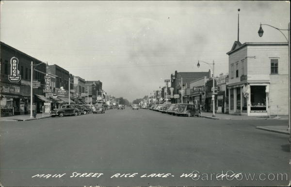 Main Street Rice Lake Wisconsin