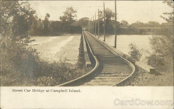 Street Car Bridge at Campbell's Island East Moline Illinois