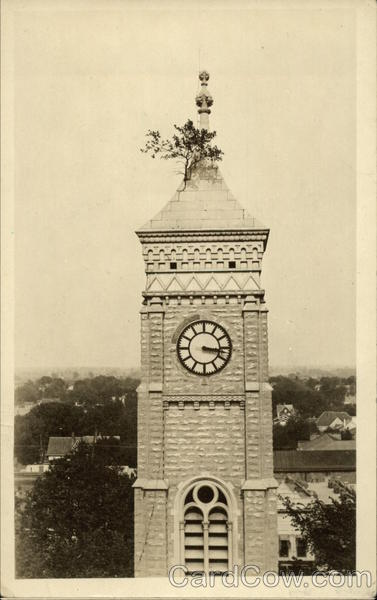 Clock tower of Decatur County Courthouse Greensburg Indiana