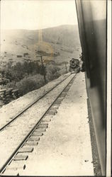 Scenic view of train and railway, Lombard to Ringling