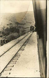View of Train Coming From Behind