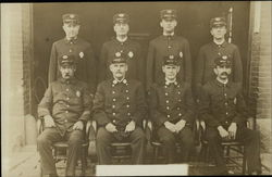 Portrait of Eight Firemen (or Policemen)
