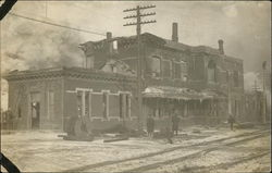 Train Depot after Fire