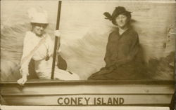Souvenir portrait of two women at Coney Island