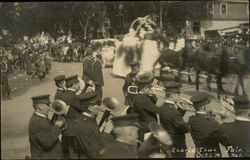 Band playing for the parade during Charlestown Fair, Oct. 1, 1914
