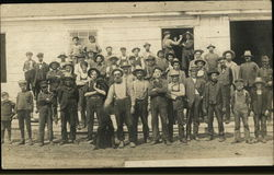 Group photograph of working men early in the 20th century