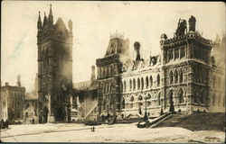 Canadian House of Commons Fire 1916