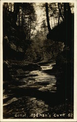 Gorge leading into Old Man's Cave Postcard