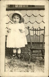 Toddler Bennie Gilmore Standing Next to Chair - 1911