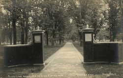 Miami University - Slanting Walk, Memorial Entrance