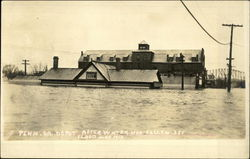 Penna. R.R. depot after water had fallen 3 feet. Flood of March 1913.
