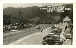 Parking area, Hawks Nest State Park