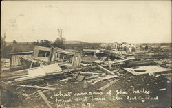 What Remains of John Charles' House and Barn After Cyclone 1907