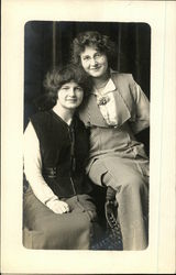 Photographic portrait of two women Postcard
