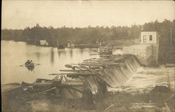 View of Logs on Dam
