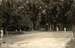 Playing tennis at Cabot's Lodge, Door County