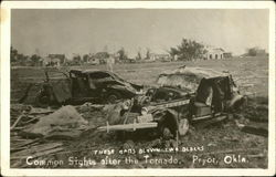 Destroyed Cars after Tornado
