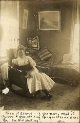 Woman on a Rocking Chair Postcard