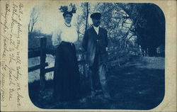 Outdoor photo of a couple in 1908