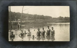 Photograph of boys swimming in Davis Lake