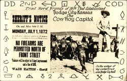Trail herd brands of 1874 that established Dodge City, Kansas, the cowboy capital