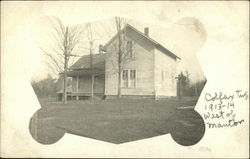 Photograph of a house in 1913-1914, Colfax Township